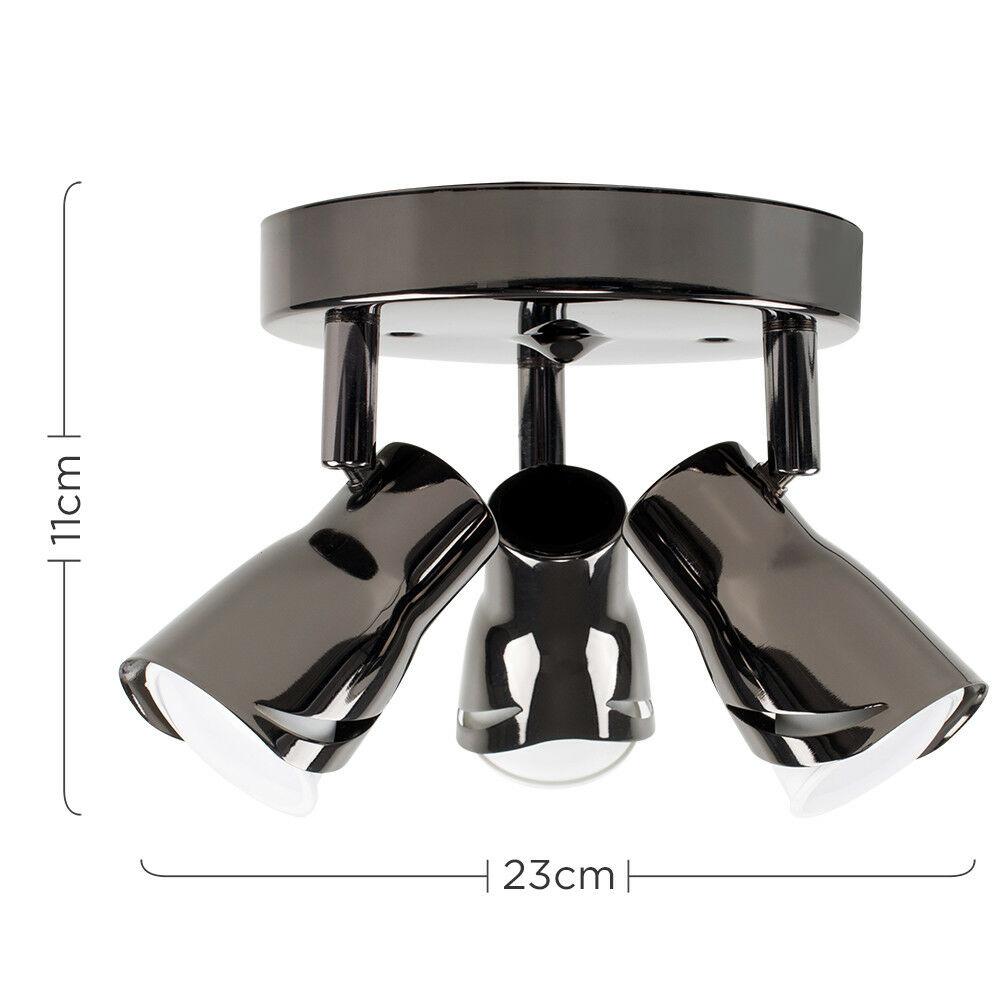 Modern-3-Way-LED-GU10-Ceiling-Spot-Lights-Spotlights-Black-Chrome-Copper-Grey thumbnail 10