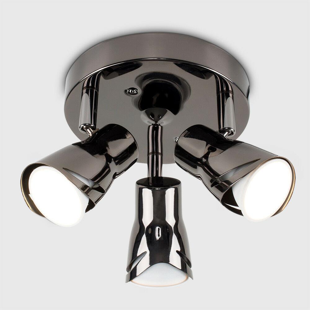 Modern-3-Way-LED-GU10-Ceiling-Spot-Lights-Spotlights-Black-Chrome-Copper-Grey thumbnail 8