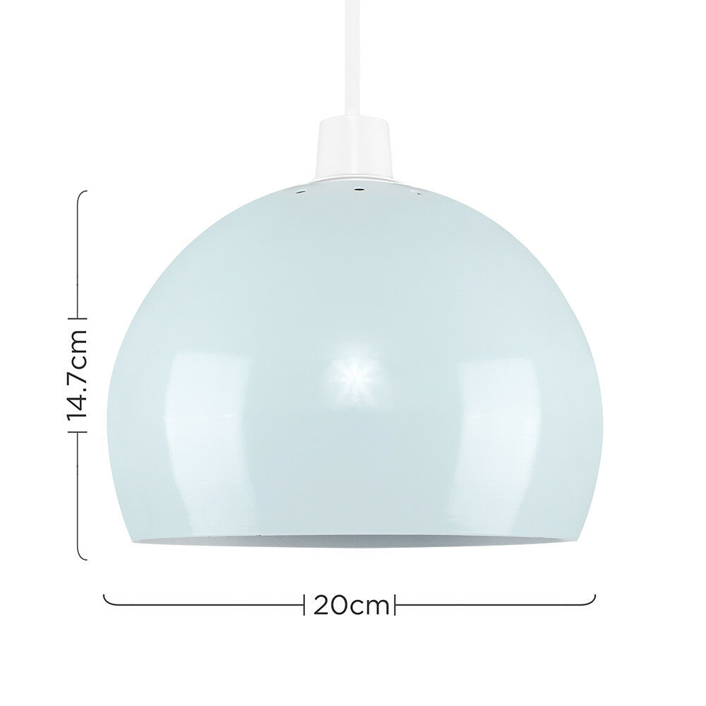 Modern-Metal-Dome-Retro-Style-Ceiling-Pendant-Light-Shade-Lampshades-Shades thumbnail 88