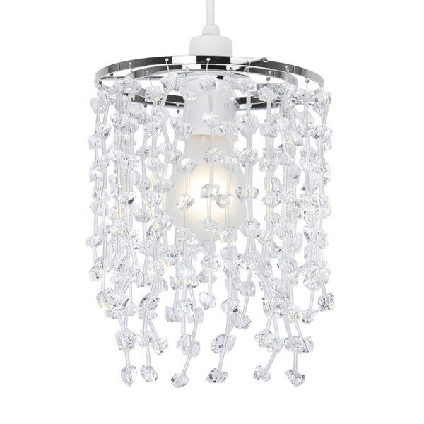 Modern-Acrylic-Crystal-Ceiling-Pendant-Light-Shade-Jewel-Chandeliers-Shades-NEW thumbnail 27