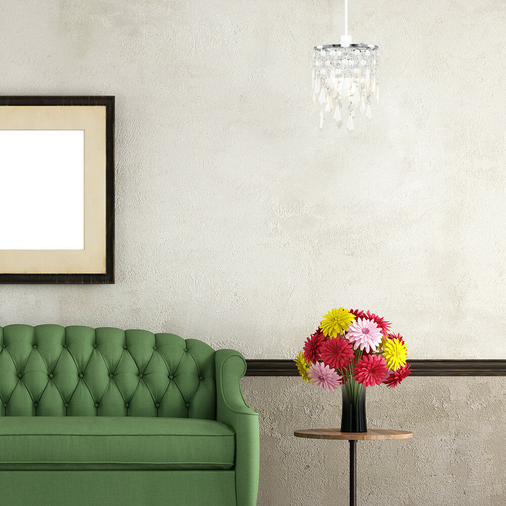 Modern-Acrylic-Crystal-Ceiling-Pendant-Light-Shade-Jewel-Chandeliers-Shades-NEW thumbnail 35