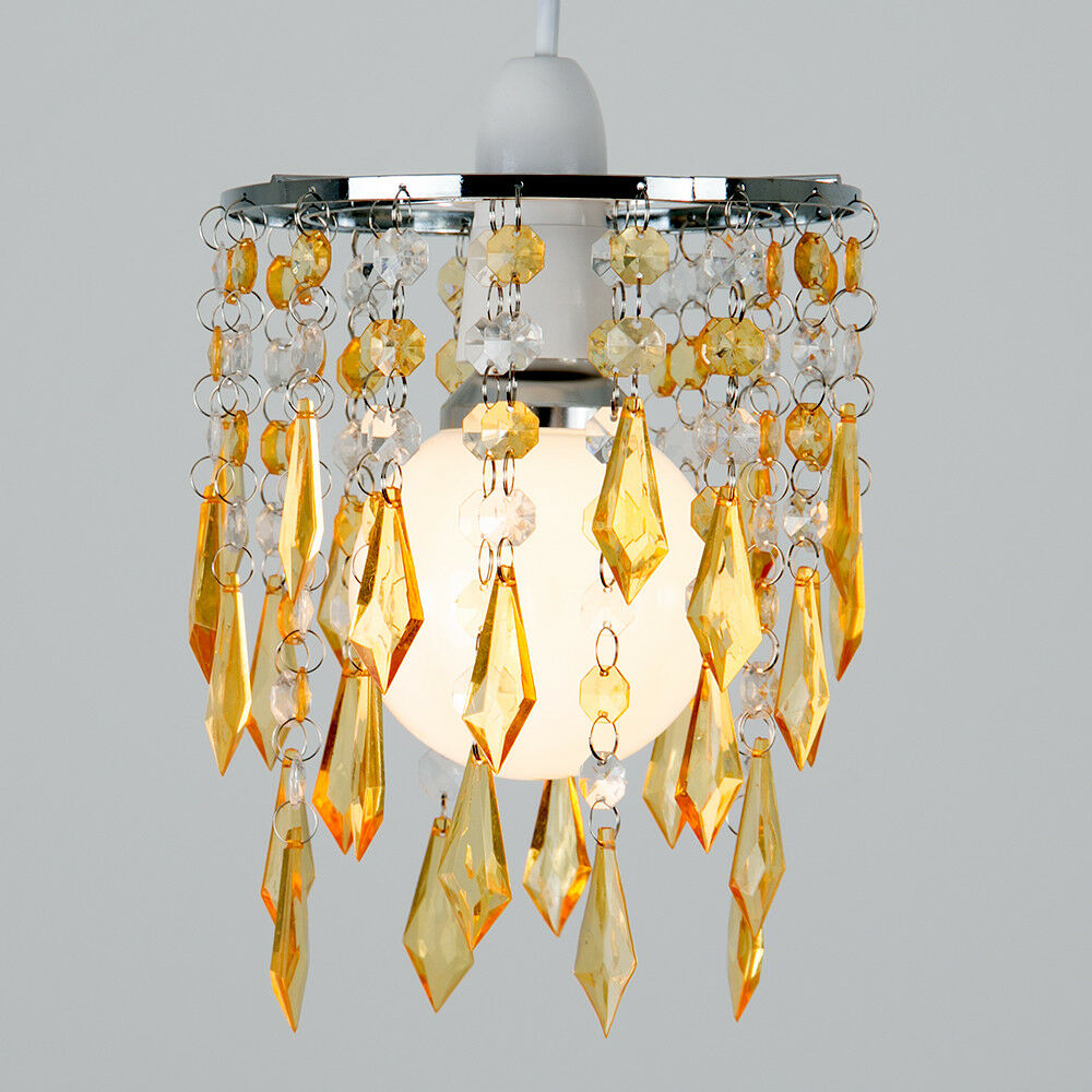 Modern-Acrylic-Crystal-Ceiling-Pendant-Light-Shade-Jewel-Chandeliers-Shades-NEW thumbnail 55