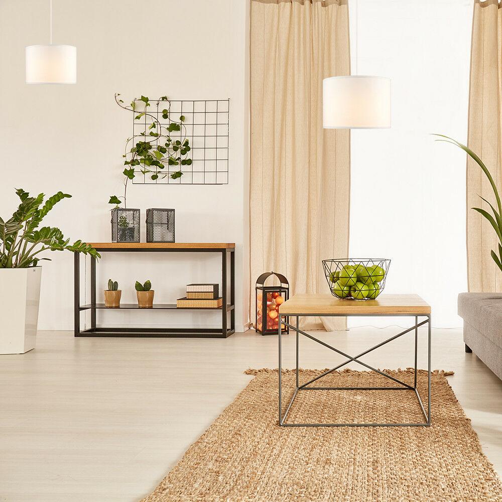 Modern-in-tessuto-cotone-Easy-Fit-Soffitto-Ciondolo-Luce-a-tamburo-Tonalita-Tavolo-Paralume miniatura 71
