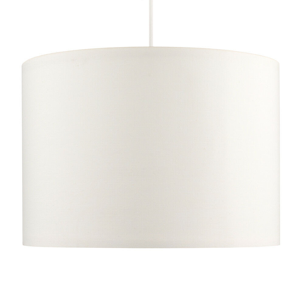 Modern-in-tessuto-cotone-Easy-Fit-Soffitto-Ciondolo-Luce-a-tamburo-Tonalita-Tavolo-Paralume miniatura 68