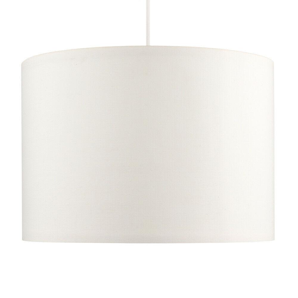 Tela-moderna-algodon-facil-ajuste-Techo-Colgante-Pantalla-De-Mesa-tonos-de-luz-de-tambor miniatura 68