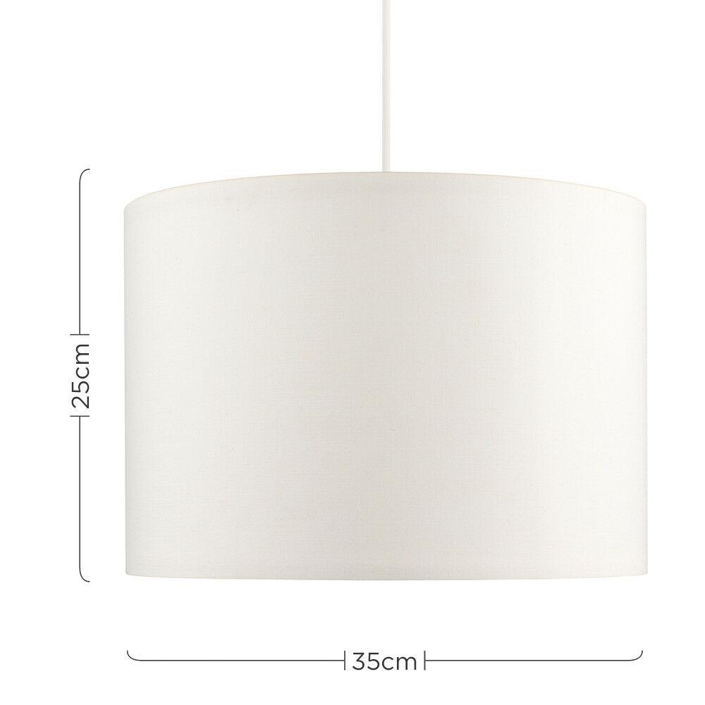 Tela-moderna-algodon-facil-ajuste-Techo-Colgante-Pantalla-De-Mesa-tonos-de-luz-de-tambor miniatura 70