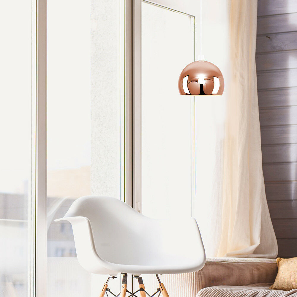 Modern-Metal-Dome-Retro-Style-Ceiling-Pendant-Light-Shade-Lampshades-Shades thumbnail 48