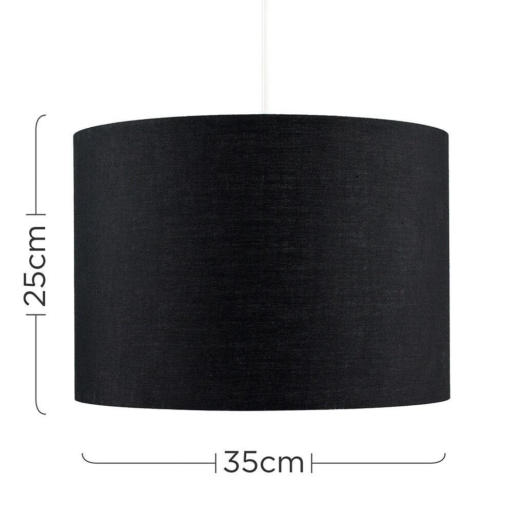 Modern-in-tessuto-cotone-Easy-Fit-Soffitto-Ciondolo-Luce-a-tamburo-Tonalita-Tavolo-Paralume miniatura 13