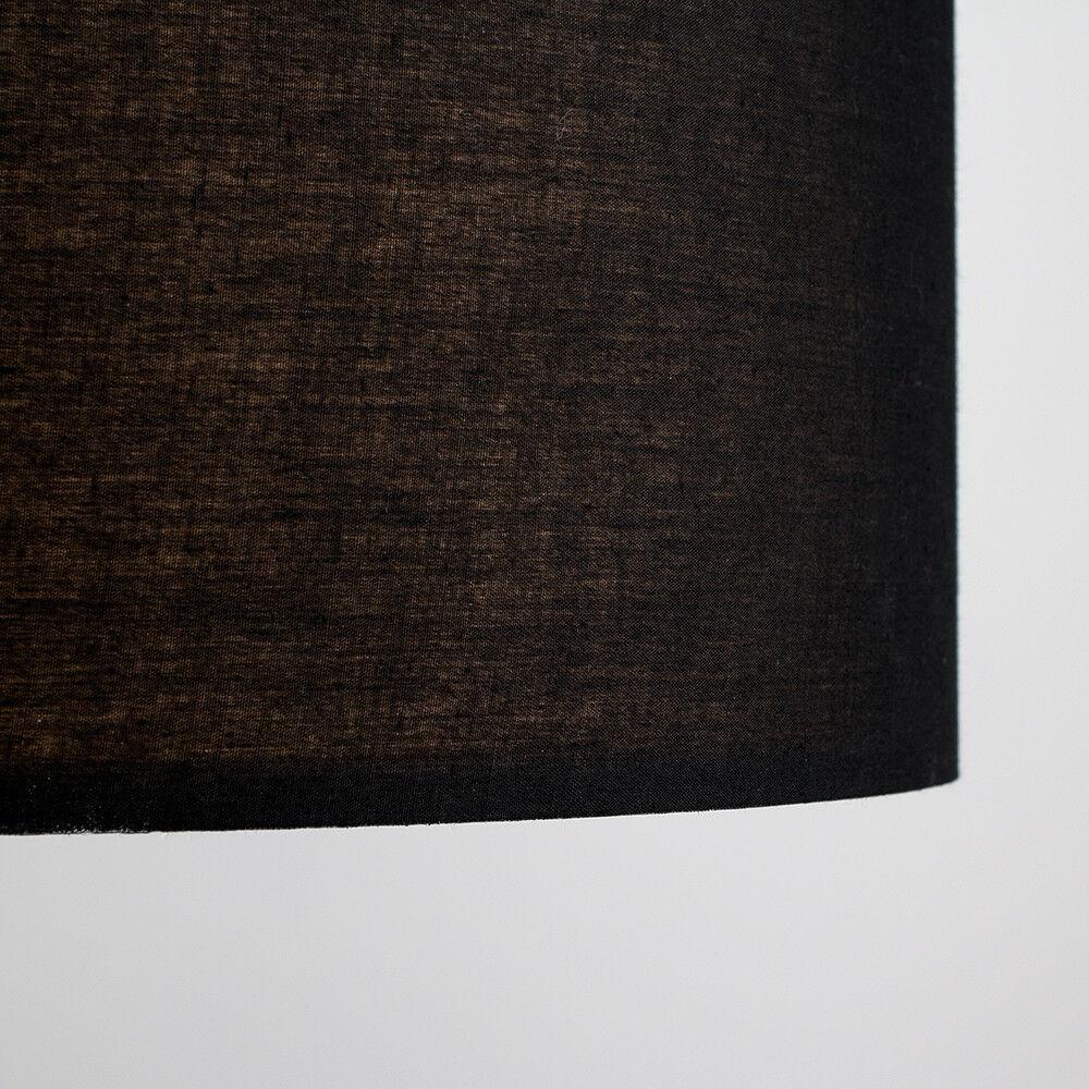 Modern-in-tessuto-cotone-Easy-Fit-Soffitto-Ciondolo-Luce-a-tamburo-Tonalita-Tavolo-Paralume miniatura 12