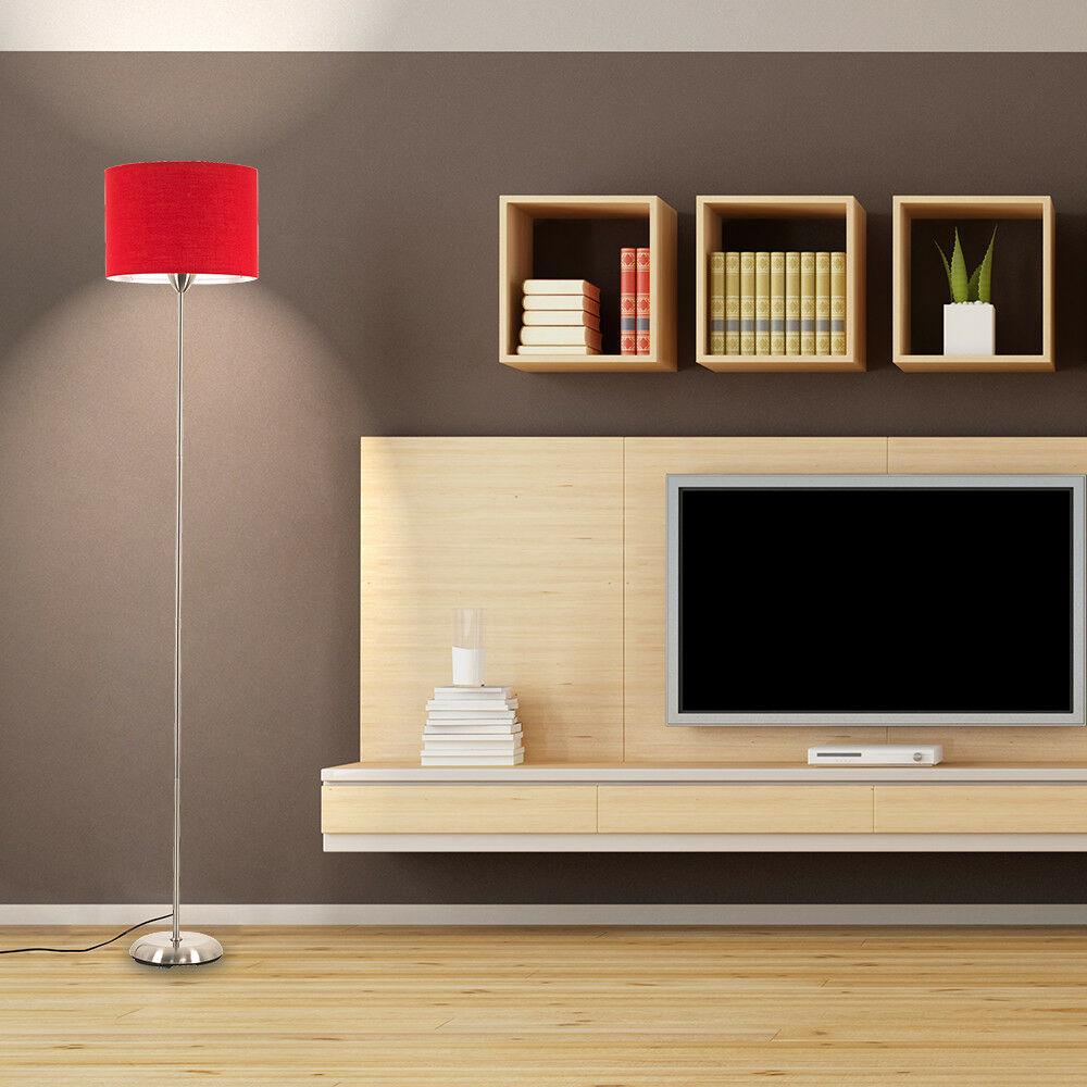 Modern-in-tessuto-cotone-Easy-Fit-Soffitto-Ciondolo-Luce-a-tamburo-Tonalita-Tavolo-Paralume miniatura 203