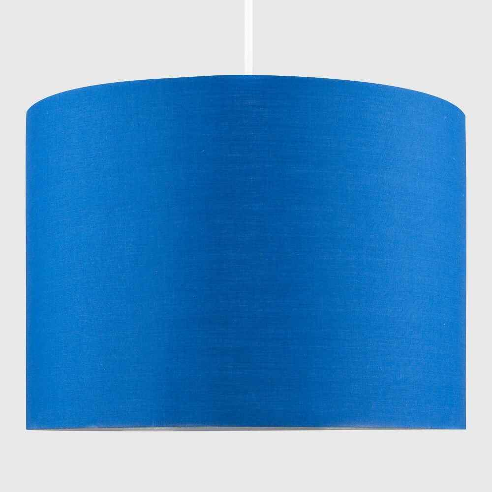 Modern-in-tessuto-cotone-Easy-Fit-Soffitto-Ciondolo-Luce-a-tamburo-Tonalita-Tavolo-Paralume miniatura 39