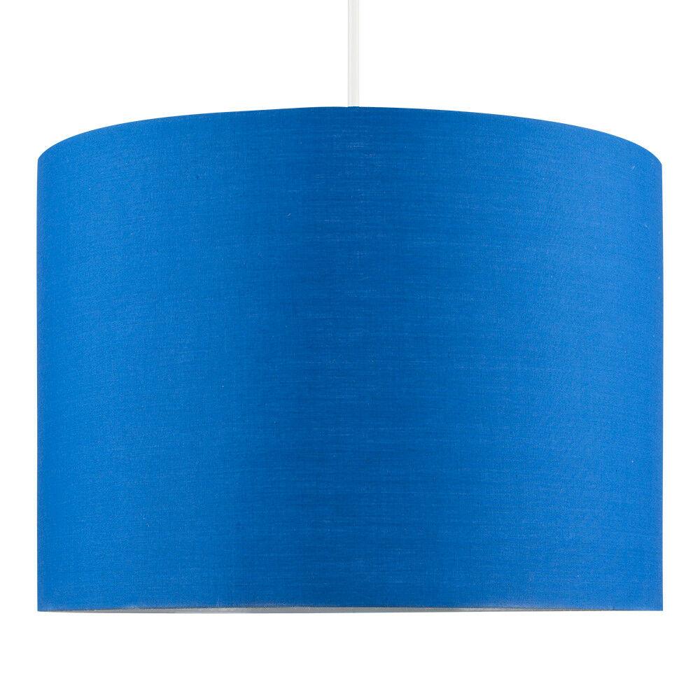 Modern-in-tessuto-cotone-Easy-Fit-Soffitto-Ciondolo-Luce-a-tamburo-Tonalita-Tavolo-Paralume miniatura 38