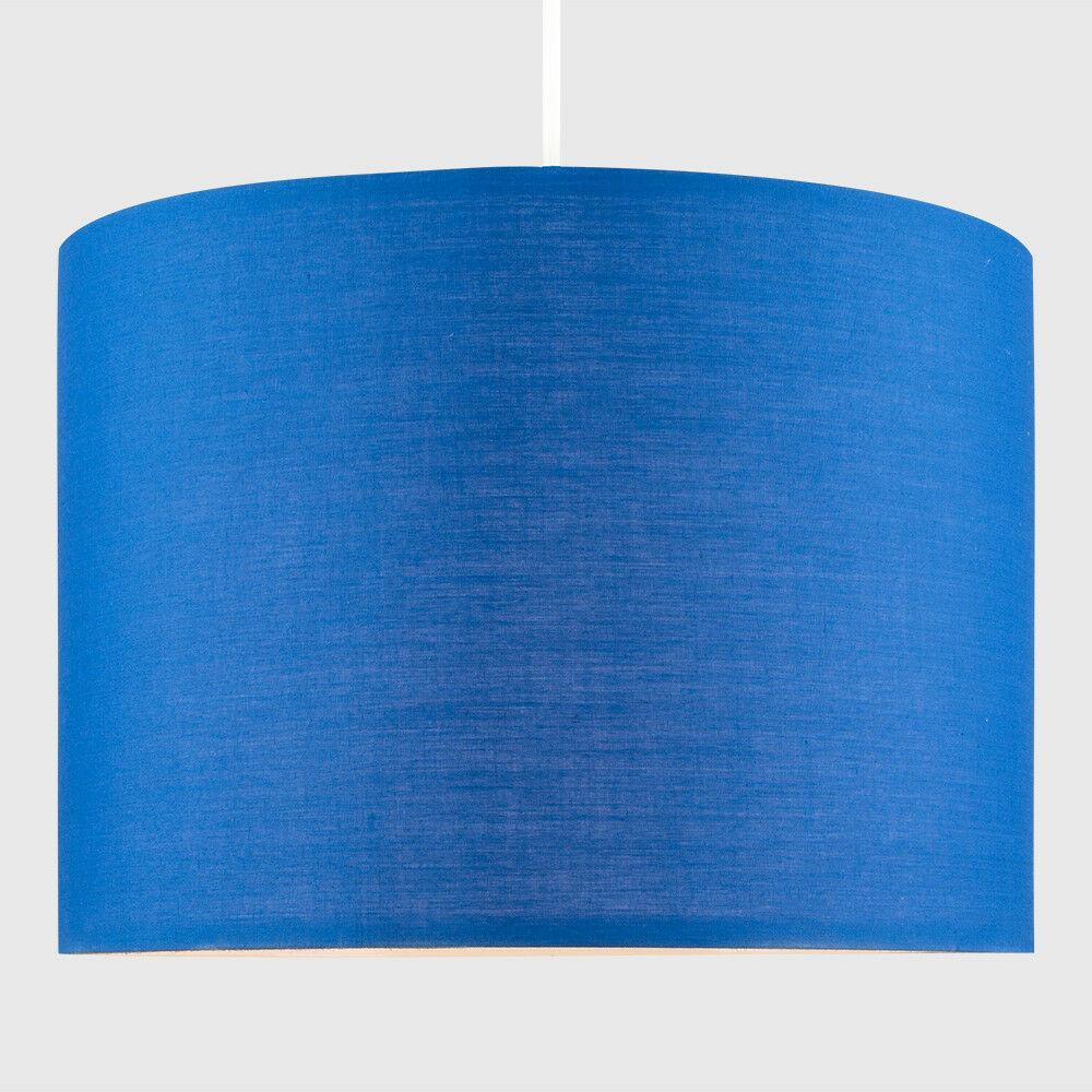 Modern-in-tessuto-cotone-Easy-Fit-Soffitto-Ciondolo-Luce-a-tamburo-Tonalita-Tavolo-Paralume miniatura 40