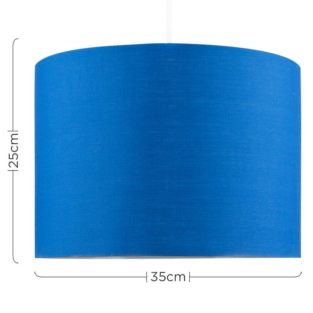 Modern-in-tessuto-cotone-Easy-Fit-Soffitto-Ciondolo-Luce-a-tamburo-Tonalita-Tavolo-Paralume miniatura 41