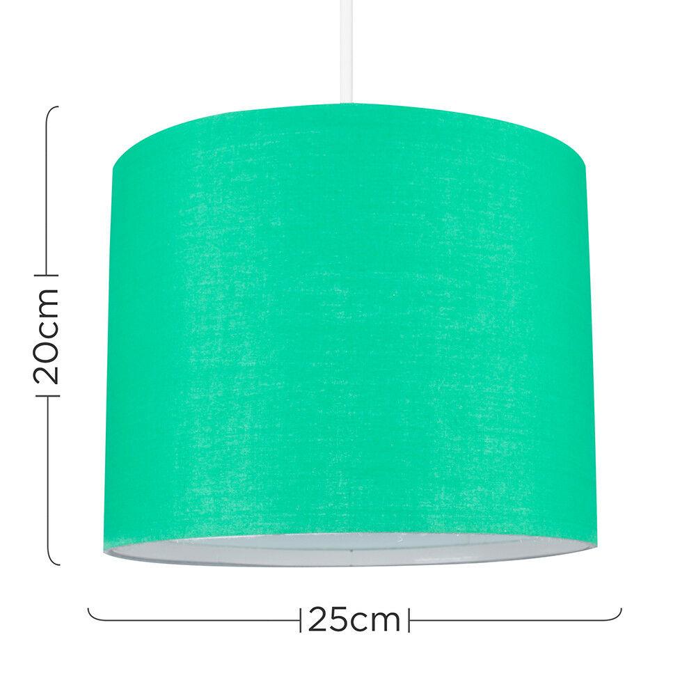 Modern-in-tessuto-cotone-Easy-Fit-Soffitto-Ciondolo-Luce-a-tamburo-Tonalita-Tavolo-Paralume miniatura 103