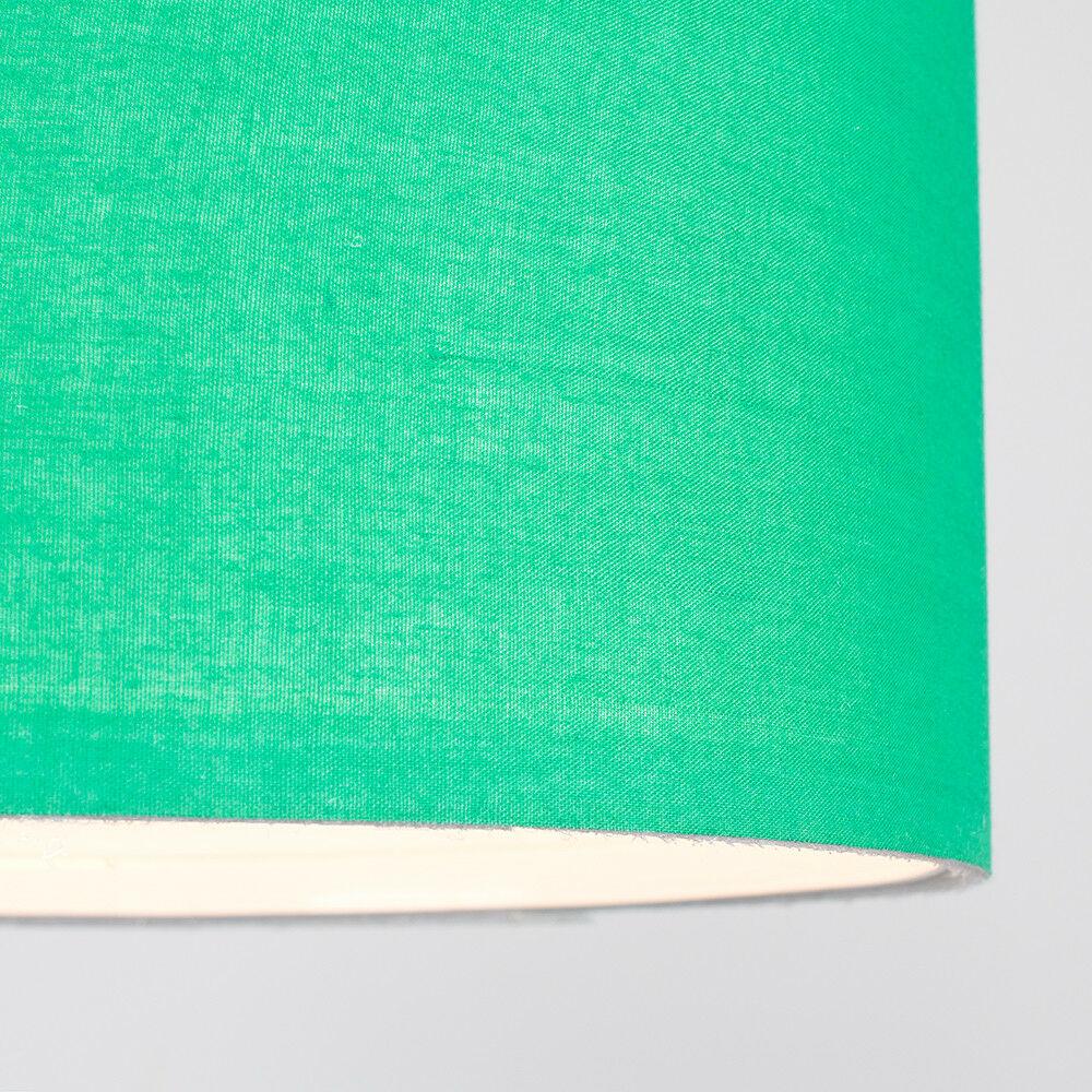 Modern-in-tessuto-cotone-Easy-Fit-Soffitto-Ciondolo-Luce-a-tamburo-Tonalita-Tavolo-Paralume miniatura 98
