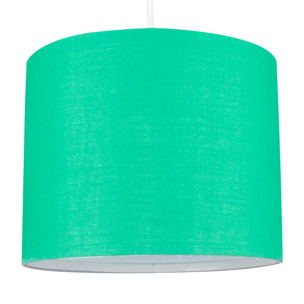 Modern-in-tessuto-cotone-Easy-Fit-Soffitto-Ciondolo-Luce-a-tamburo-Tonalita-Tavolo-Paralume miniatura 99