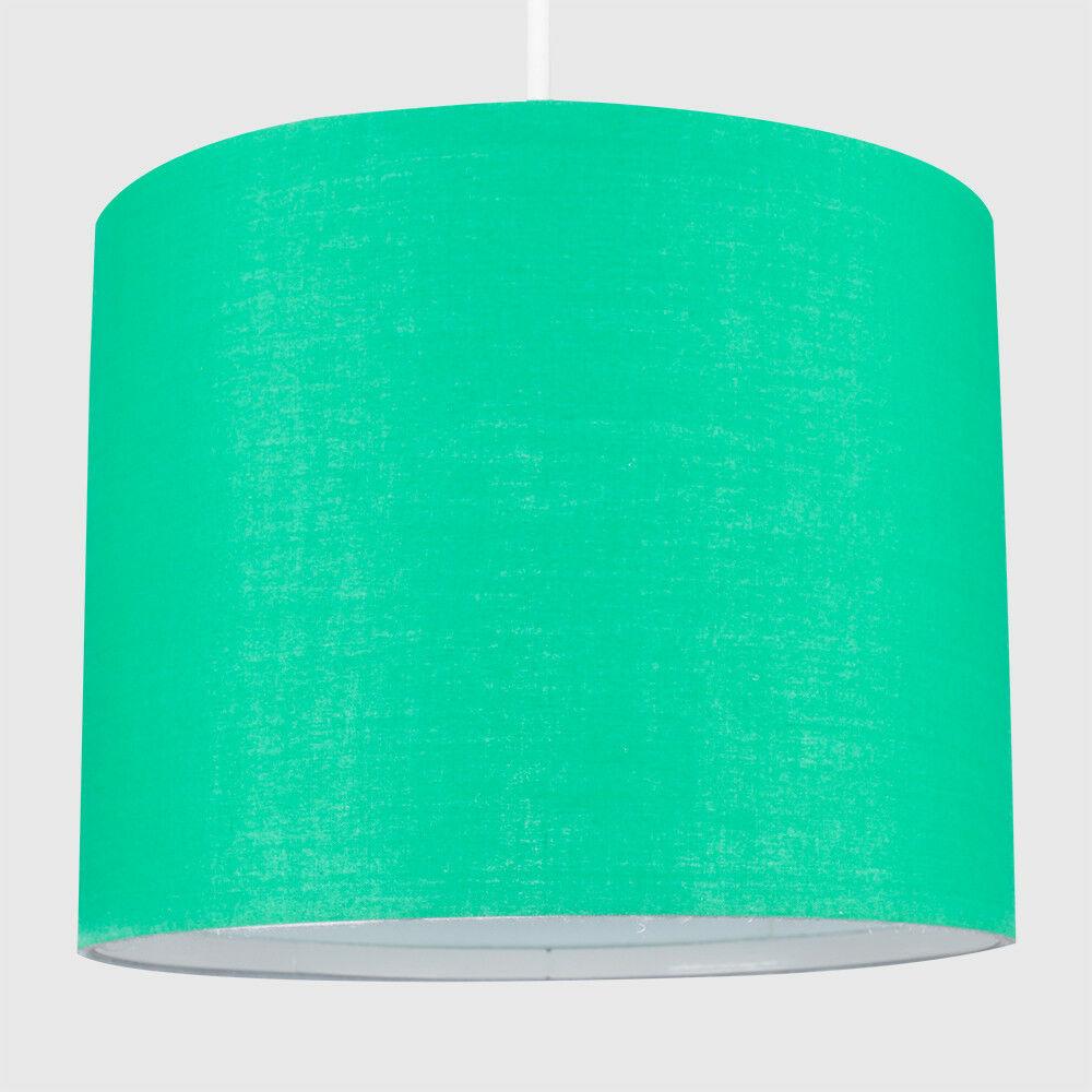 Modern-in-tessuto-cotone-Easy-Fit-Soffitto-Ciondolo-Luce-a-tamburo-Tonalita-Tavolo-Paralume miniatura 96