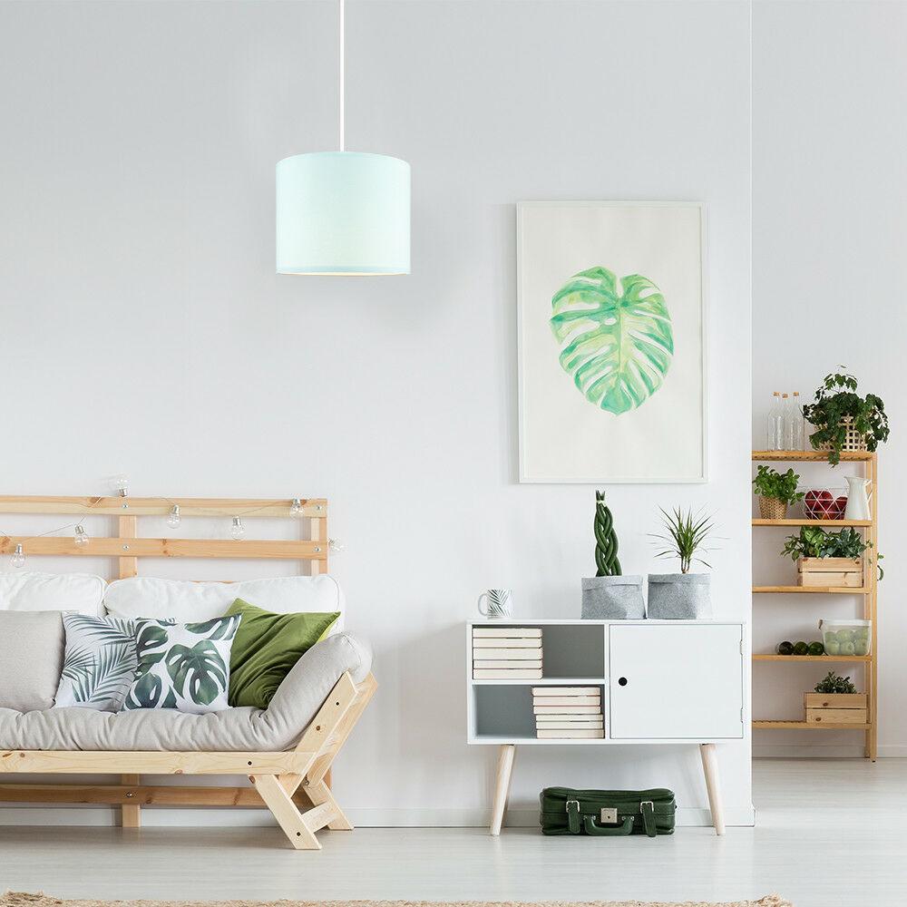 Modern-in-tessuto-cotone-Easy-Fit-Soffitto-Ciondolo-Luce-a-tamburo-Tonalita-Tavolo-Paralume miniatura 79