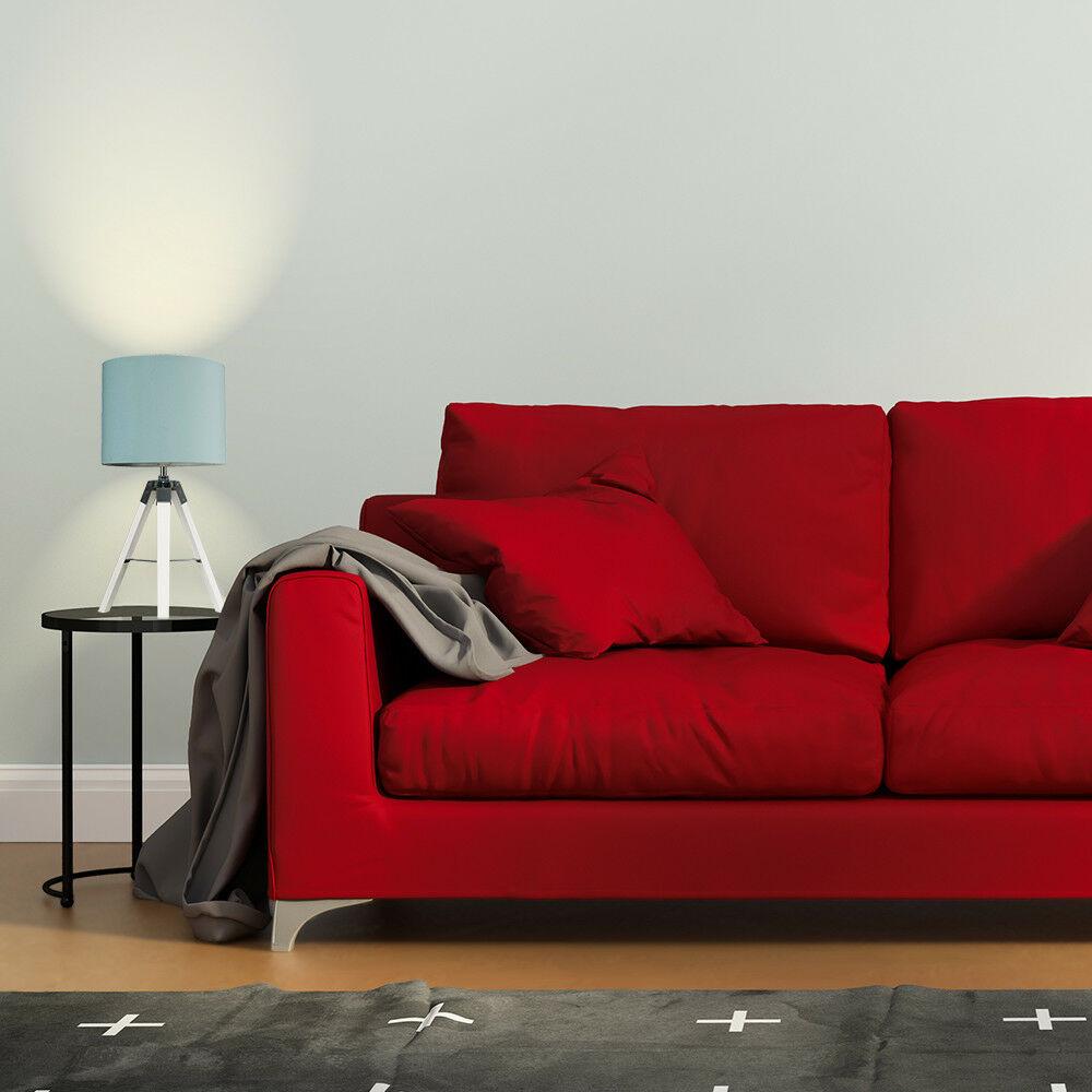 Modern-in-tessuto-cotone-Easy-Fit-Soffitto-Ciondolo-Luce-a-tamburo-Tonalita-Tavolo-Paralume miniatura 78
