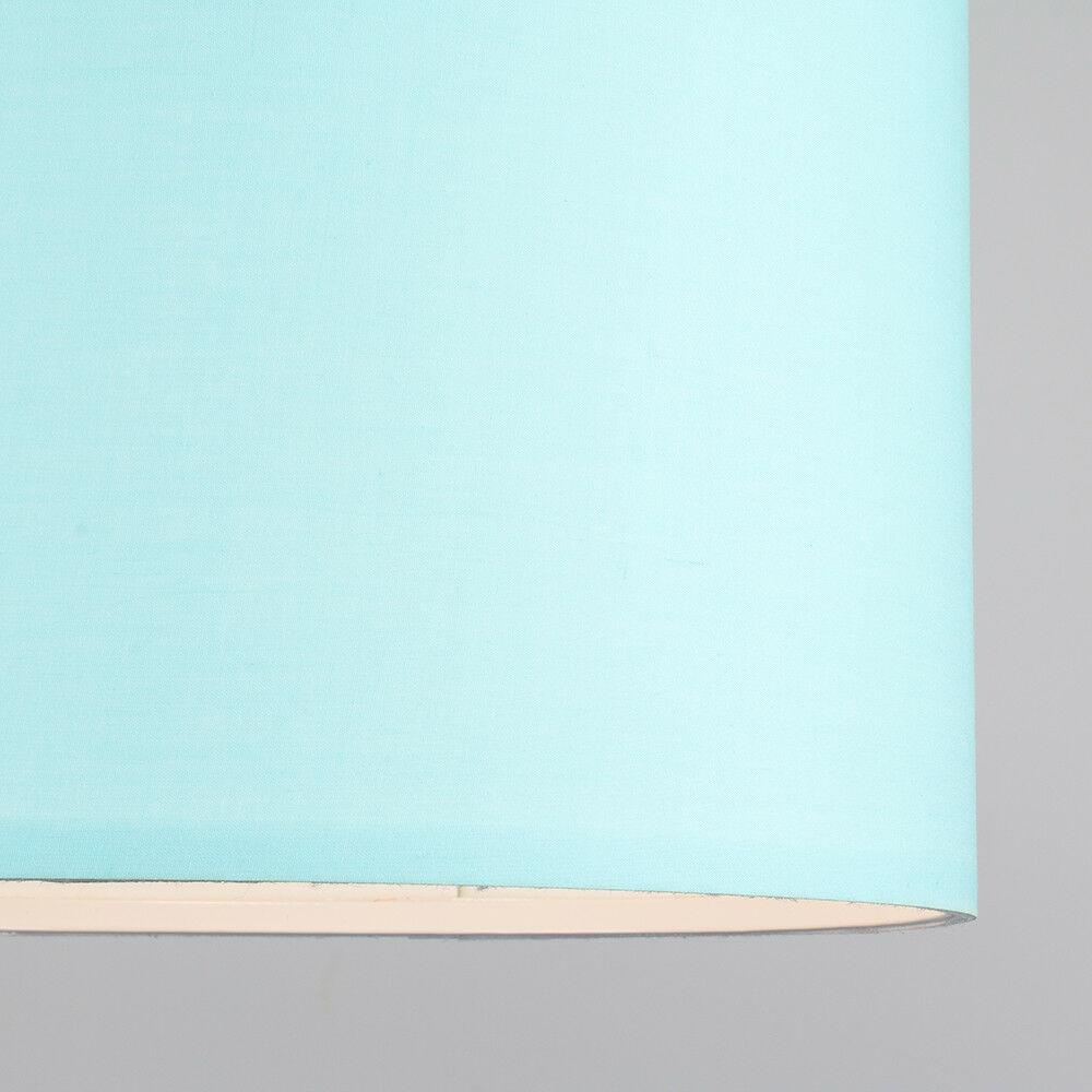 Modern-in-tessuto-cotone-Easy-Fit-Soffitto-Ciondolo-Luce-a-tamburo-Tonalita-Tavolo-Paralume miniatura 83