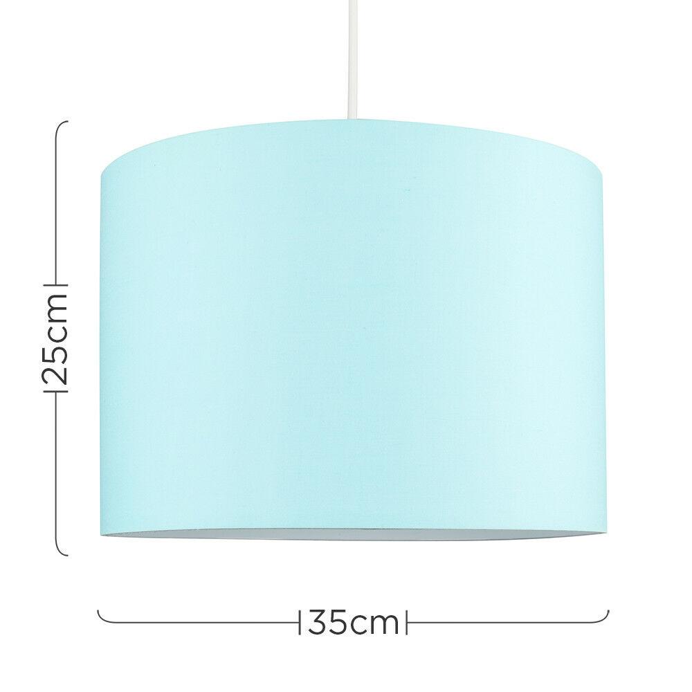 Tela-moderna-algodon-facil-ajuste-Techo-Colgante-Pantalla-De-Mesa-tonos-de-luz-de-tambor miniatura 80