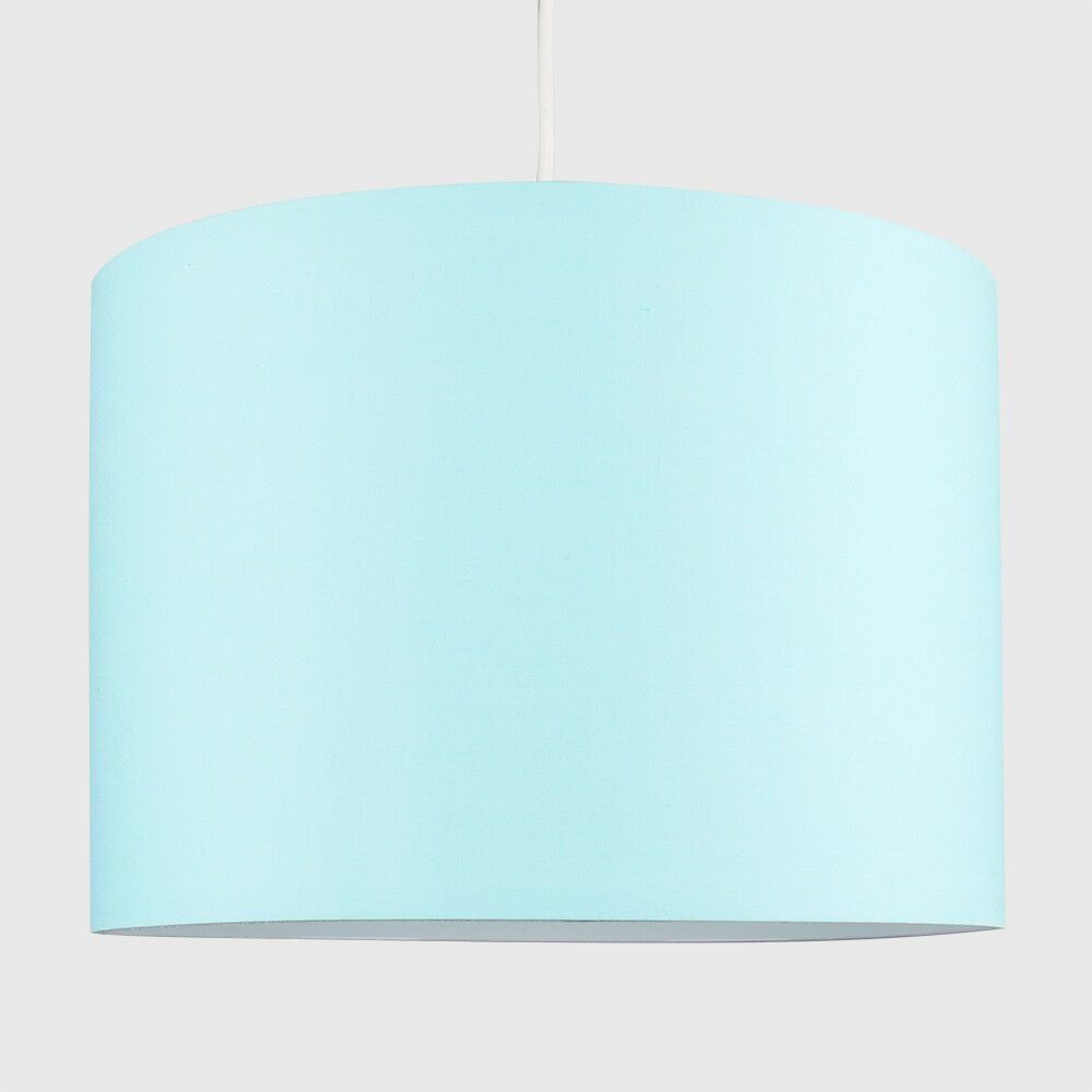 Modern-in-tessuto-cotone-Easy-Fit-Soffitto-Ciondolo-Luce-a-tamburo-Tonalita-Tavolo-Paralume miniatura 81