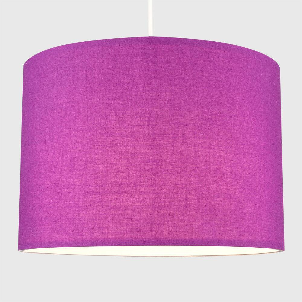 Modern-in-tessuto-cotone-Easy-Fit-Soffitto-Ciondolo-Luce-a-tamburo-Tonalita-Tavolo-Paralume miniatura 190