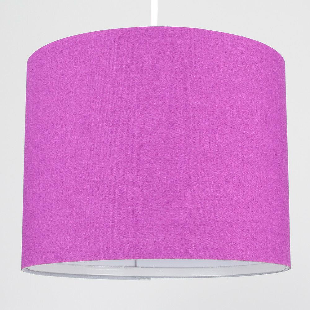 Modern-in-tessuto-cotone-Easy-Fit-Soffitto-Ciondolo-Luce-a-tamburo-Tonalita-Tavolo-Paralume miniatura 194