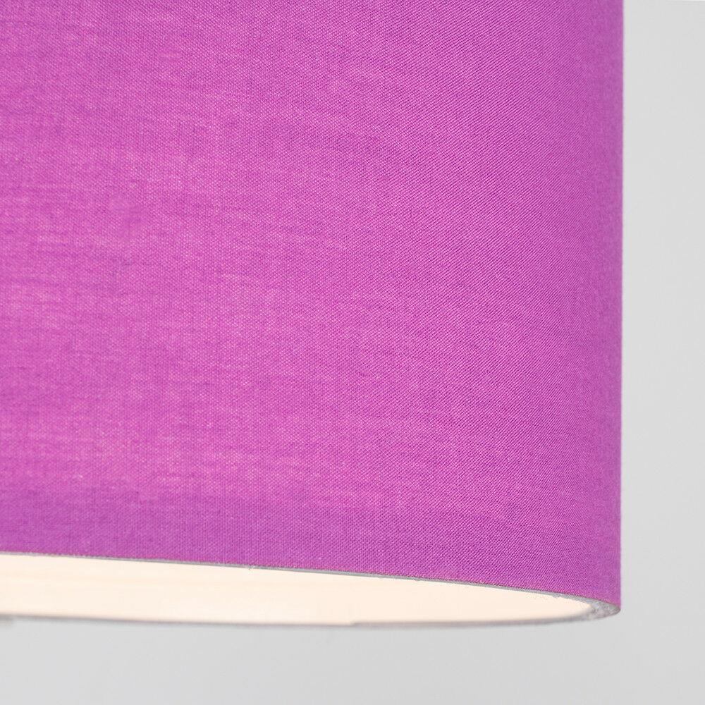 Modern-in-tessuto-cotone-Easy-Fit-Soffitto-Ciondolo-Luce-a-tamburo-Tonalita-Tavolo-Paralume miniatura 191