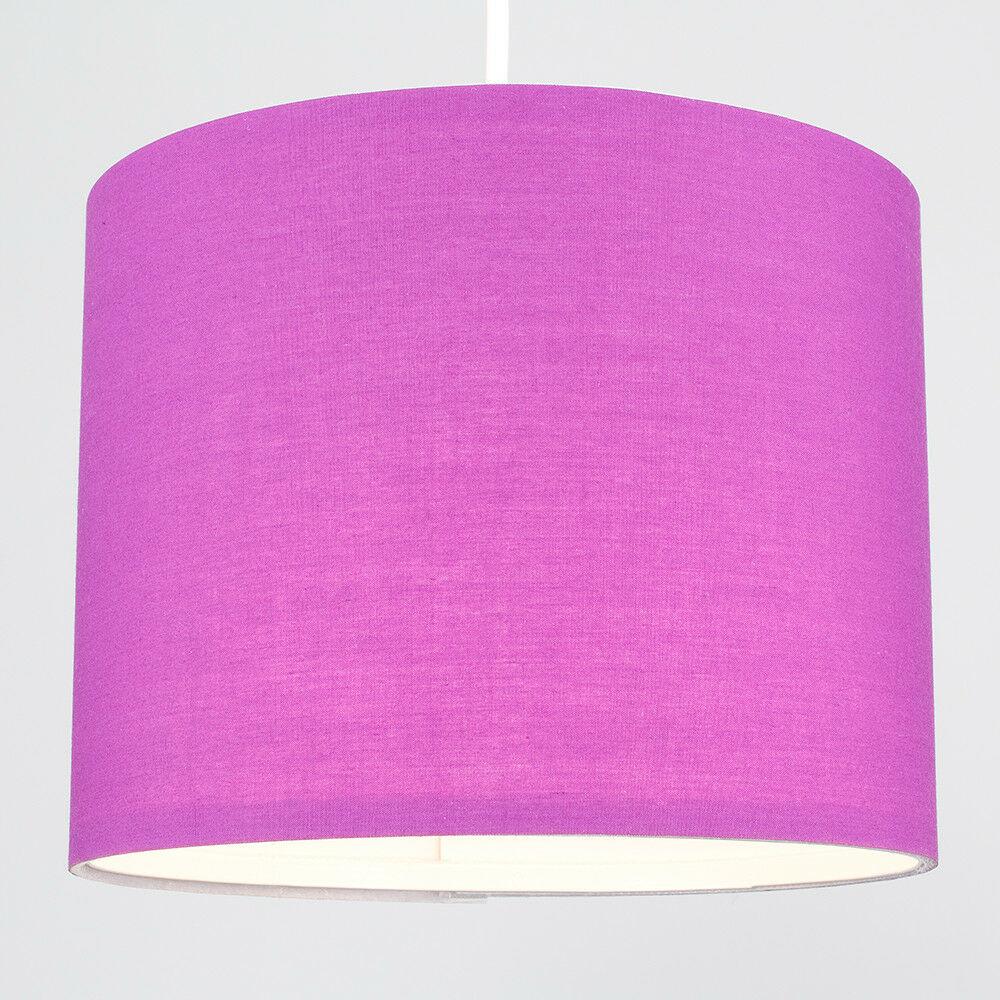 Modern-in-tessuto-cotone-Easy-Fit-Soffitto-Ciondolo-Luce-a-tamburo-Tonalita-Tavolo-Paralume miniatura 195