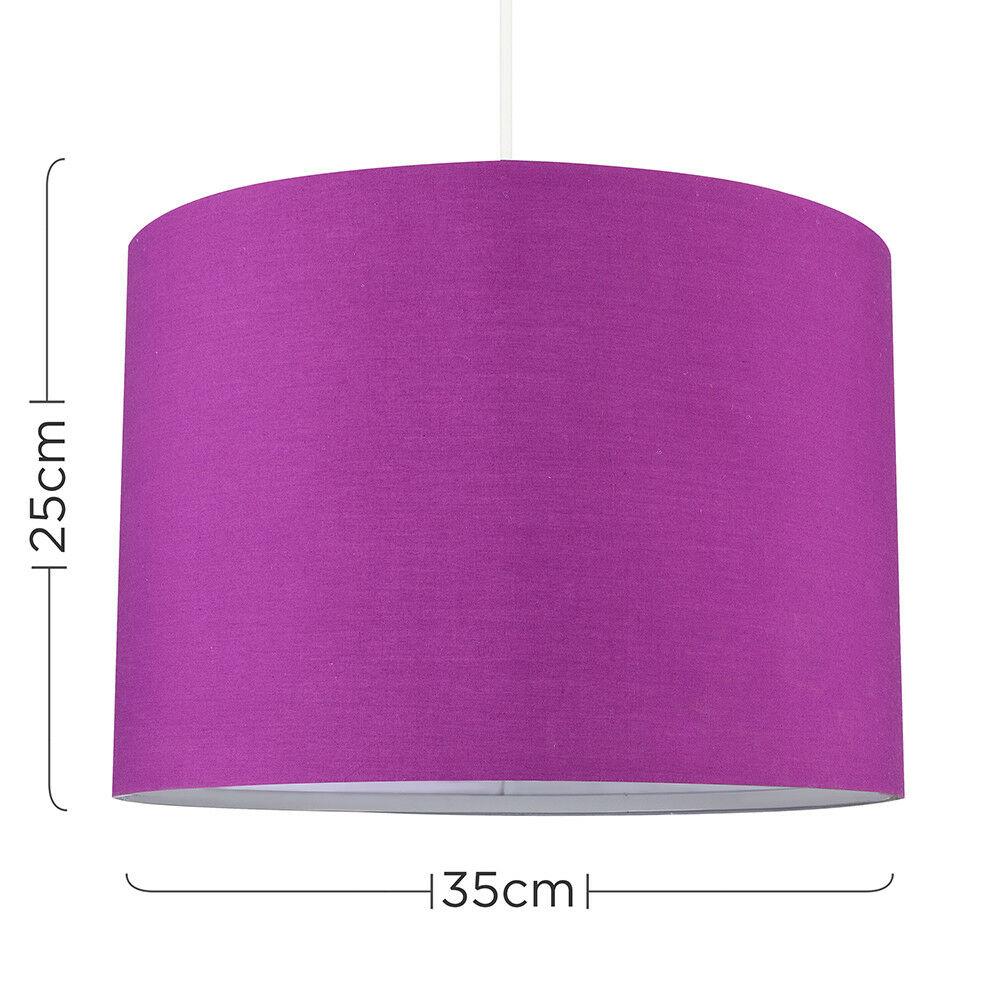 Modern-in-tessuto-cotone-Easy-Fit-Soffitto-Ciondolo-Luce-a-tamburo-Tonalita-Tavolo-Paralume miniatura 192