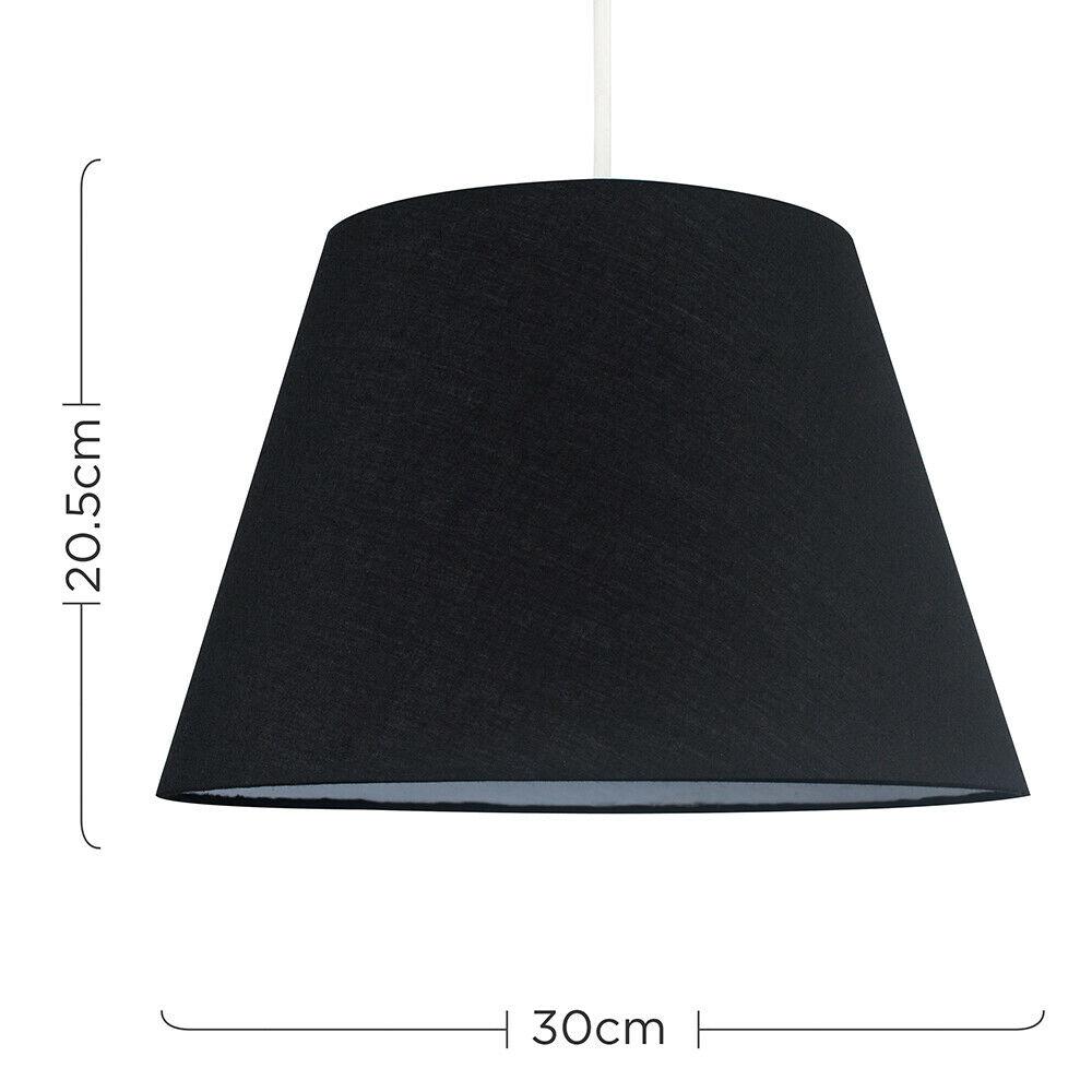 Colgante-De-Techo-De-Tela-De-Algodon-mesa-o-lampara-de-pie-luz-sombra-pantallas-2-Tamanos miniatura 6