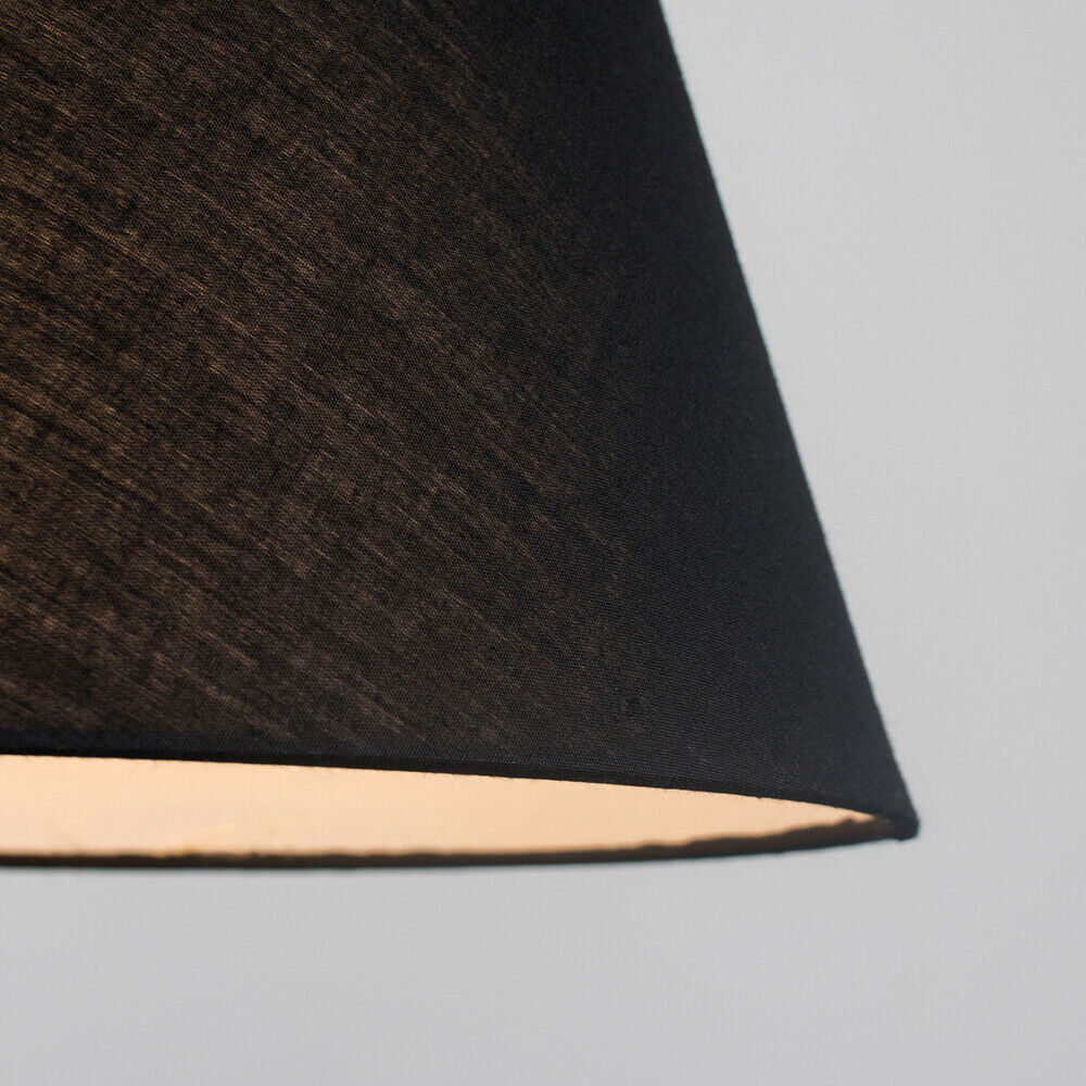 Colgante-De-Techo-De-Tela-De-Algodon-mesa-o-lampara-de-pie-luz-sombra-pantallas-2-Tamanos miniatura 5
