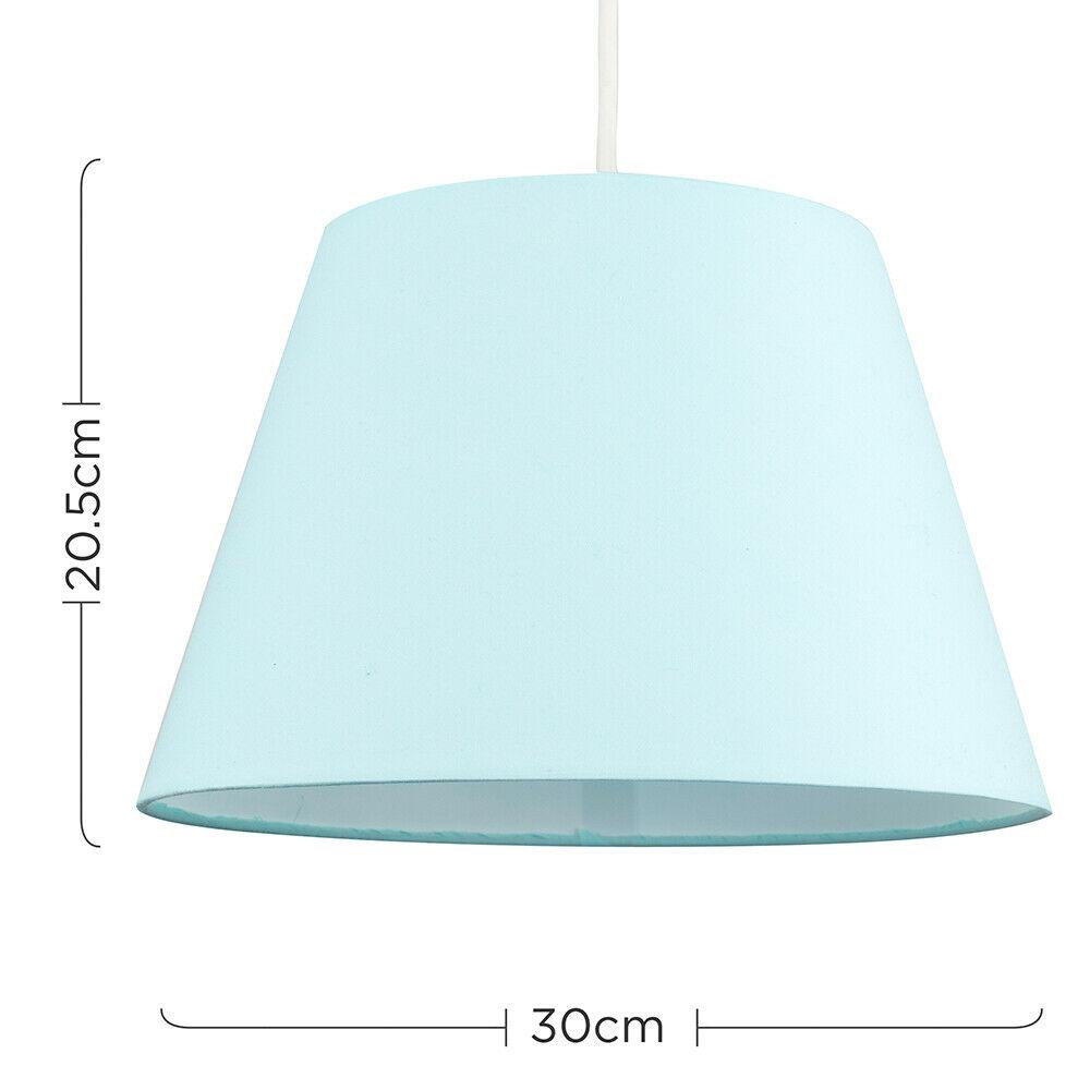 Colgante-De-Techo-De-Tela-De-Algodon-mesa-o-lampara-de-pie-luz-sombra-pantallas-2-Tamanos miniatura 30