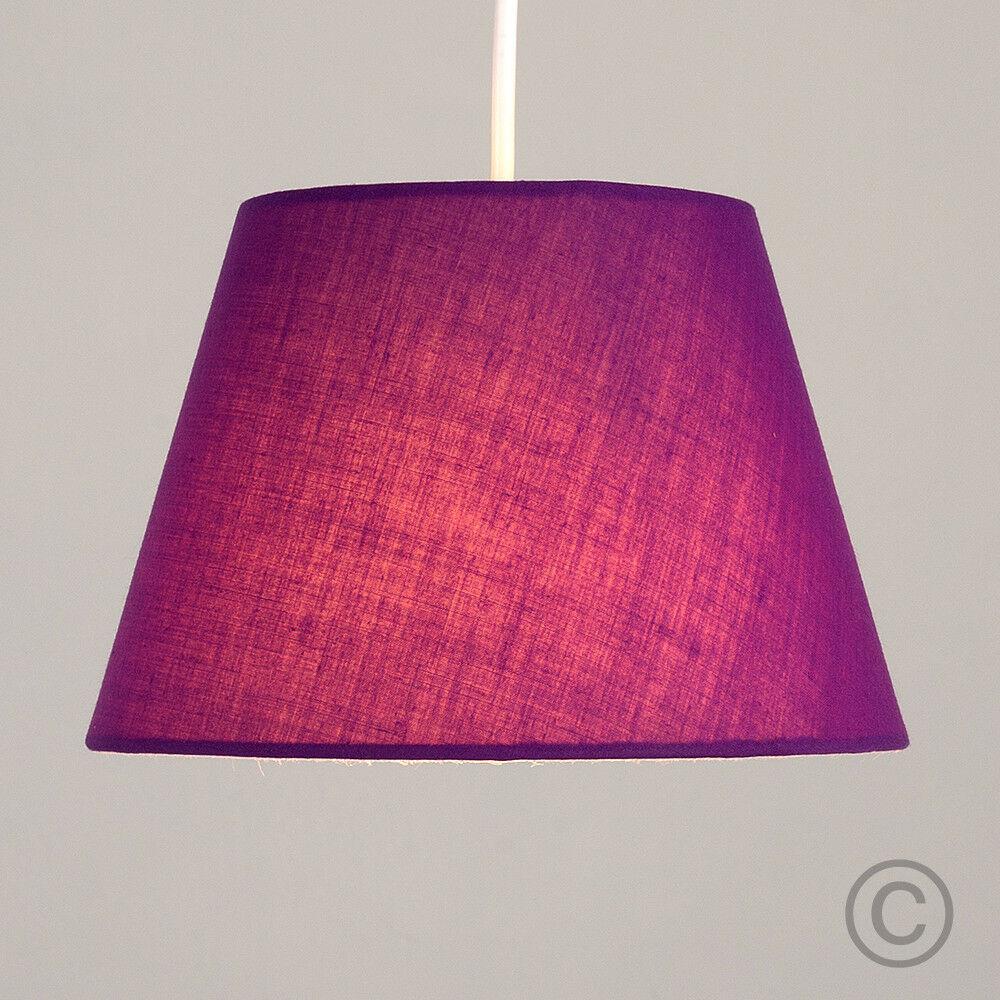 Colgante-De-Techo-De-Tela-De-Algodon-mesa-o-lampara-de-pie-luz-sombra-pantallas-2-Tamanos miniatura 35