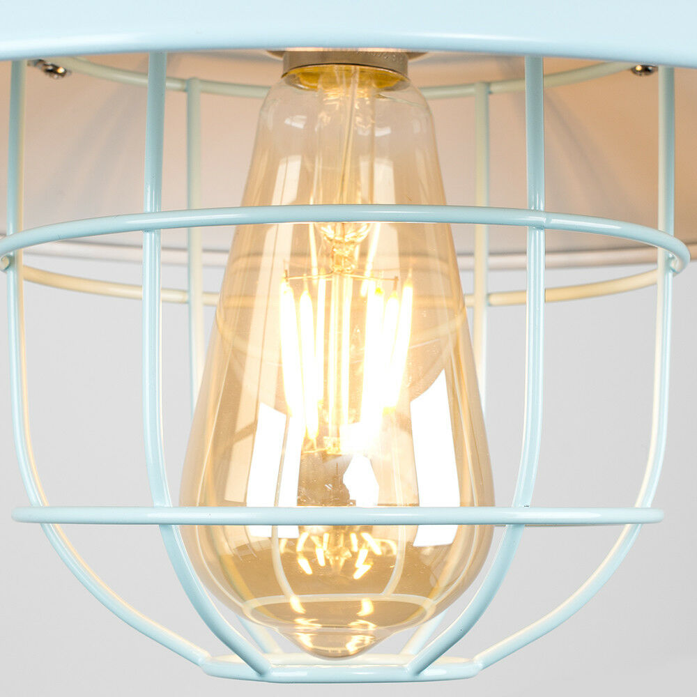 Vintage-Industrial-LED-Metal-Cage-Ceiling-Pendant-Light-Shade-Filament-Bulb thumbnail 36