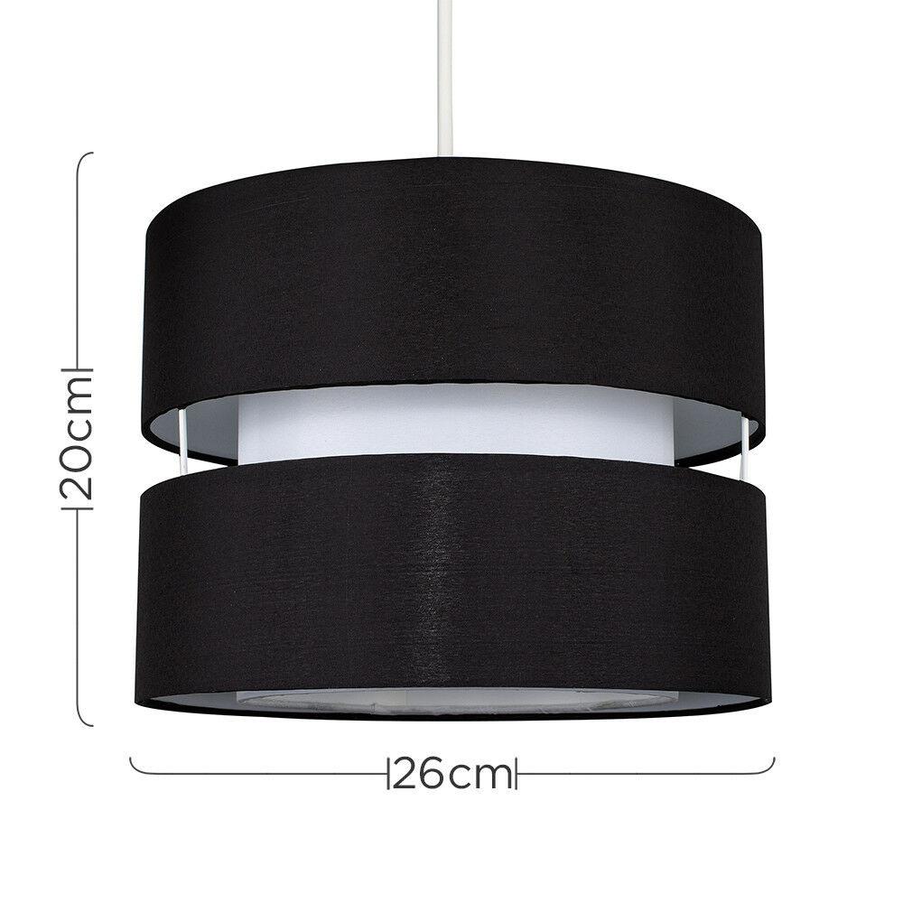 Moderne-Ajustement-Facile-Coton-Tambour-Plafond-Pendentif-Abat-jour-Moderne-Lumiere-eclairage miniature 9
