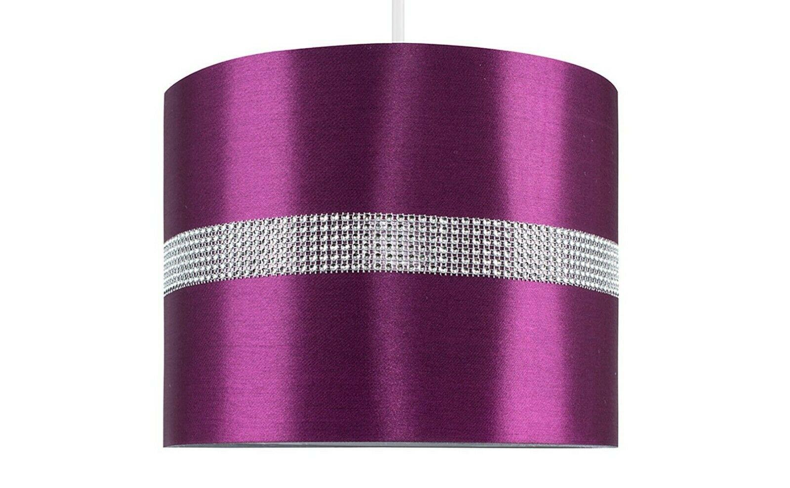 Diamante-Algodon-Tela-no-electricas-Tambor-tonos-de-mesa-o-lampara-de-pie-luz-Sombra miniatura 25