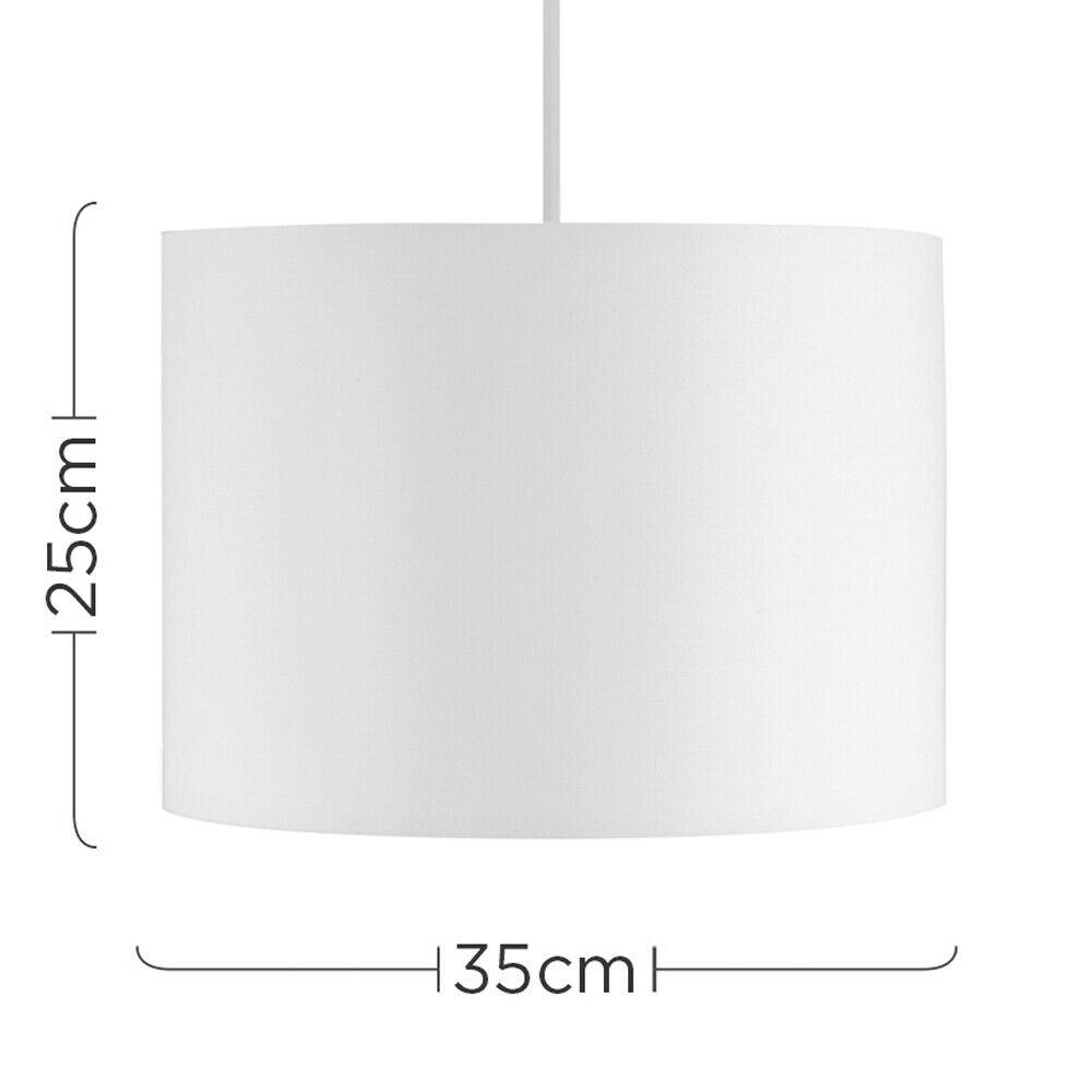 Modern-in-tessuto-cotone-Easy-Fit-Soffitto-Ciondolo-Luce-a-tamburo-Tonalita-Tavolo-Paralume miniatura 232