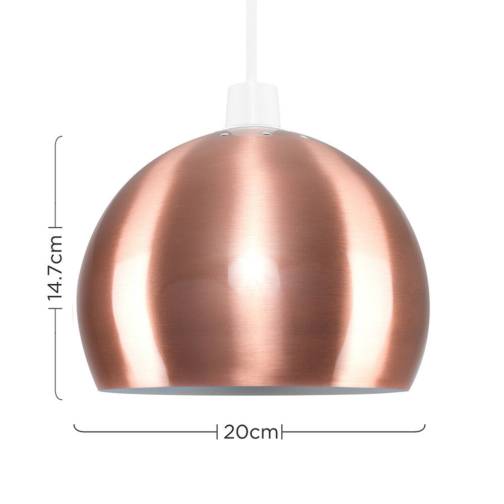 Modern-Metal-Dome-Retro-Style-Ceiling-Pendant-Light-Shade-Lampshades-Shades thumbnail 31