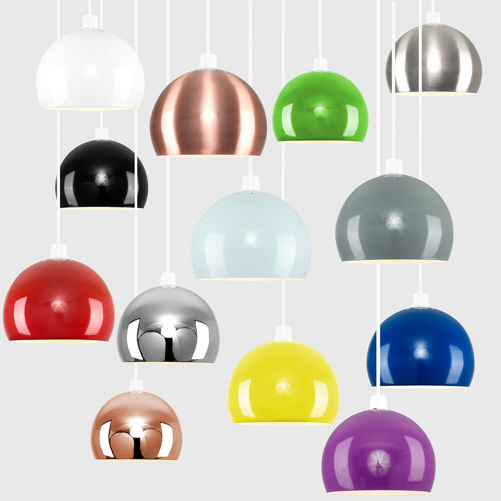 Modern-Metal-Dome-Retro-Style-Ceiling-Pendant-Light-Shade-Lampshades-Shades thumbnail 17