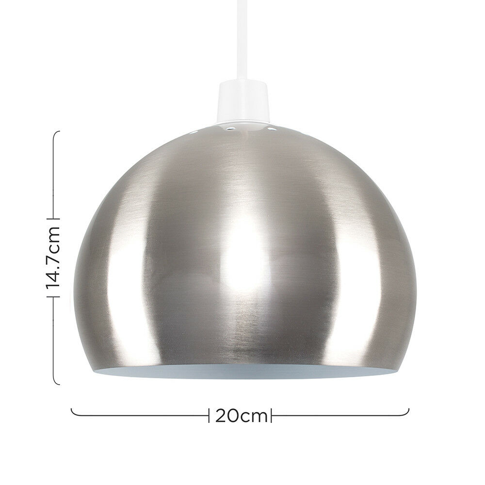 Modern-Metal-Dome-Retro-Style-Ceiling-Pendant-Light-Shade-Lampshades-Shades thumbnail 19