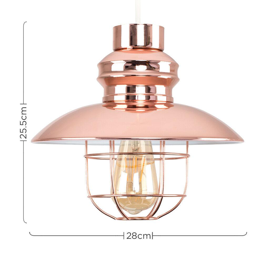 Vintage-Industrial-LED-Metal-Cage-Ceiling-Pendant-Light-Shade-Filament-Bulb thumbnail 25