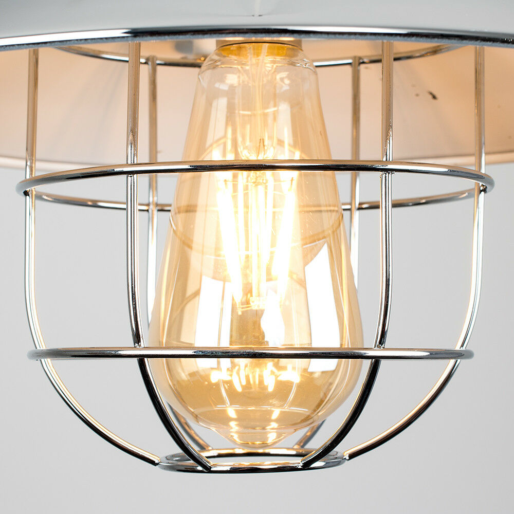 Vintage-Industrial-LED-Metal-Cage-Ceiling-Pendant-Light-Shade-Filament-Bulb thumbnail 18