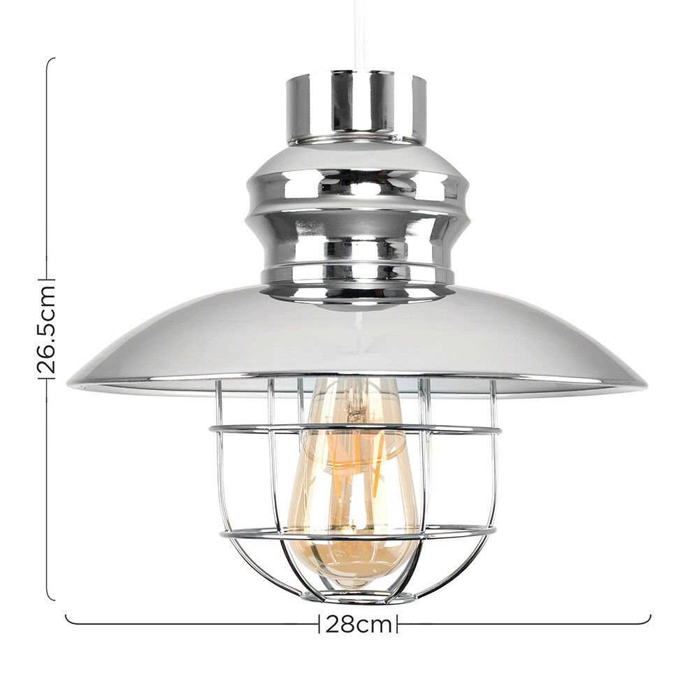 Vintage-Industrial-LED-Metal-Cage-Ceiling-Pendant-Light-Shade-Filament-Bulb thumbnail 19
