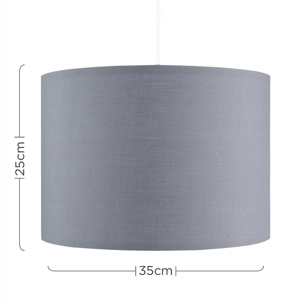 Modern-in-tessuto-cotone-Easy-Fit-Soffitto-Ciondolo-Luce-a-tamburo-Tonalita-Tavolo-Paralume miniatura 109