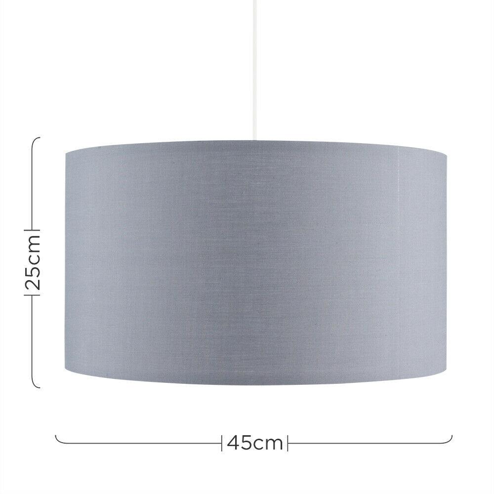 Modern-in-tessuto-cotone-Easy-Fit-Soffitto-Ciondolo-Luce-a-tamburo-Tonalita-Tavolo-Paralume miniatura 113
