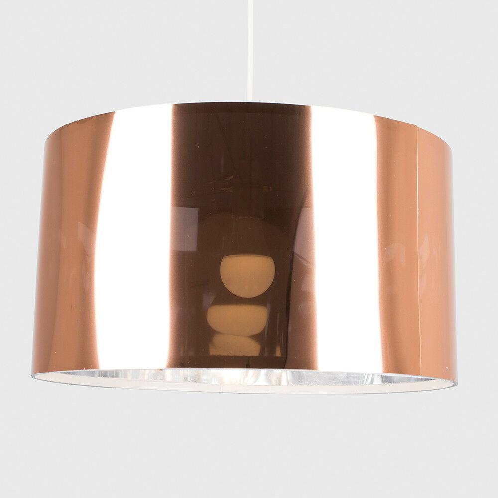 Modern-in-tessuto-cotone-Easy-Fit-Soffitto-Ciondolo-Luce-a-tamburo-Tonalita-Tavolo-Paralume miniatura 60
