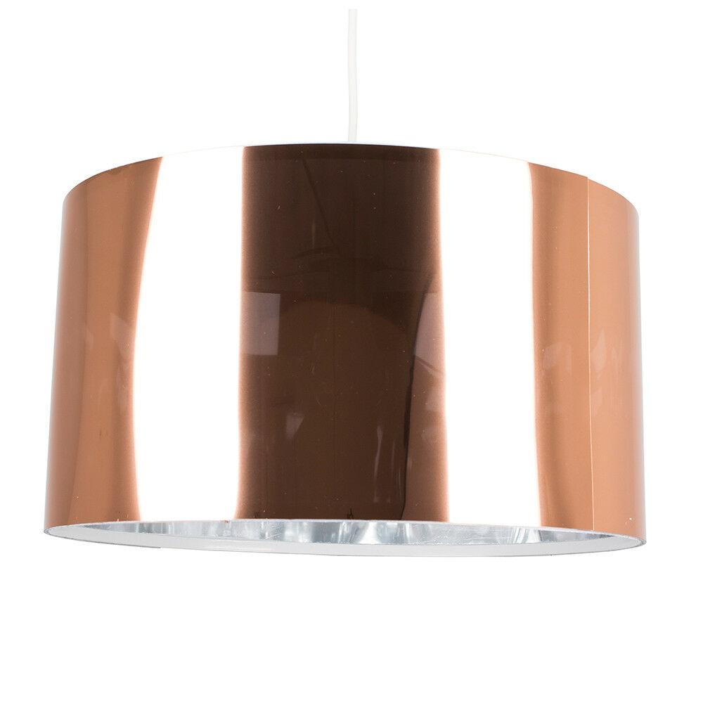 Modern-in-tessuto-cotone-Easy-Fit-Soffitto-Ciondolo-Luce-a-tamburo-Tonalita-Tavolo-Paralume miniatura 57